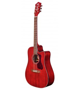 GUILD D 120CE DREADNOUGHT CUTAWAY CHERRY RED