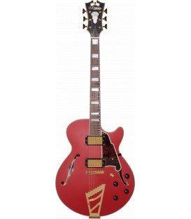 D'Angelico DELUXE SS (with Stairstep tailpiece) Matte Cherry