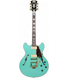 D'Angelico EXCEL DC Shoreline (with Bigsby) SURF GREEN