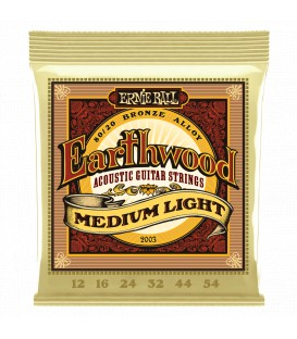 Ernie Ball Earthwood Medium Light 80/20 Bronze 12/54